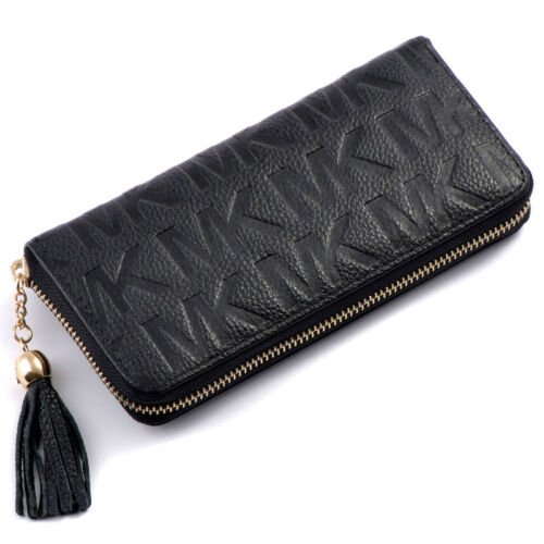 Real Leather Women's Wallet Girls Bifold Clutch ID Credit Card Purse