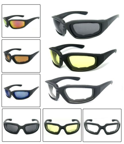 33e5770ae8 1 or 3 Pair(s) Motorcycle Padded Foam Wind Resistant Riding Glasses  Sunglasses