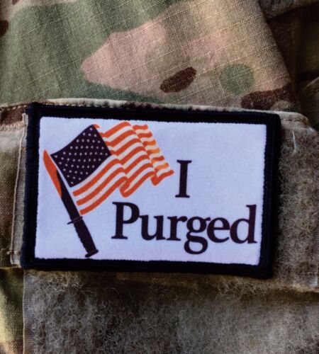 The Purge Movie Morale Patch Military Tactical Army Flag USA Hook BadgeArmy - 48824