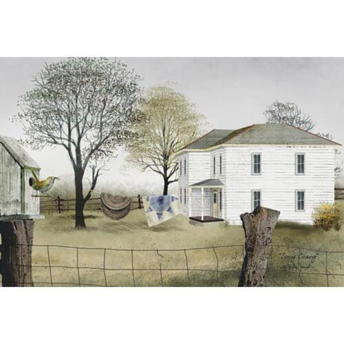Billy Jacobs Spring Cleaning Farm Print  18 x 12