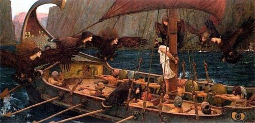 John William Waterhouse Ulysses and the Sirens Giclee Canvas Print