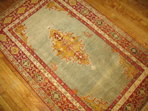 Antique Decorative Turkish Oushak Ushak Sivas Rug 3'8''x6'