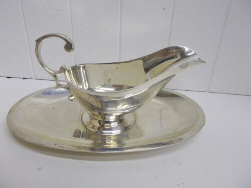 KW-362 Federal Silver Co. Quadruple Plate EPNS Sauce / Gravy Boat and Tray
