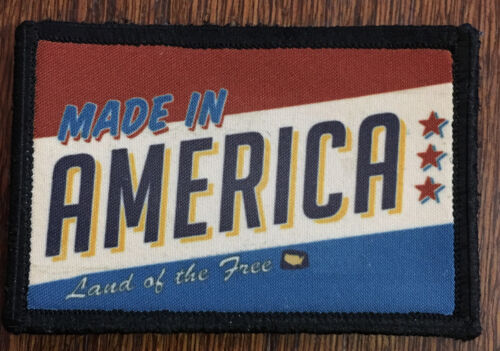 Made in America Morale Patch Tactical Military Army Badge Hook FlagArmy - 48824