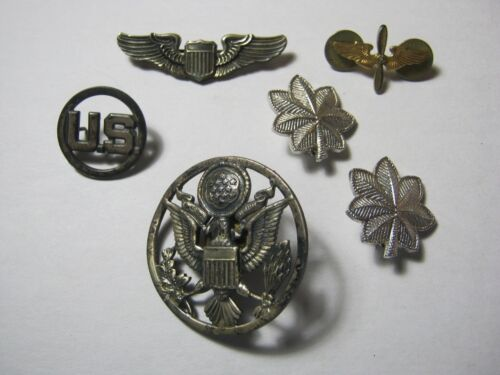 U.S. Military Pins AAF Pilot Wings Eagle Hat Badge Oak Leaf Air Corps  T*