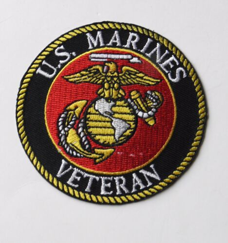 USMC MARINES MARINE VETERAN EMBROIDERED PATCH 3 INCHES