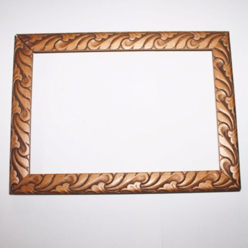 Old Wooden Art Picture Frame, Gold toned frame, Acanthus Scrolls