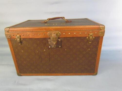 *RARE* ANTIQUE LOUIS VUITTON STEAMER TRUNK, UNUSUAL STRAPS & TRAY, *GREAT SIZE*
