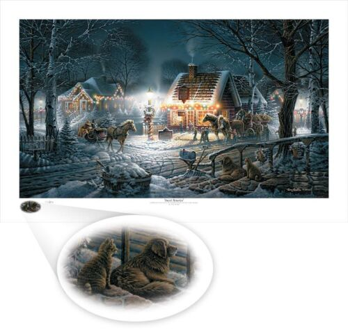 Terry Redlin Sweet Memories Holiday Print 32 x 18.5 Numbered