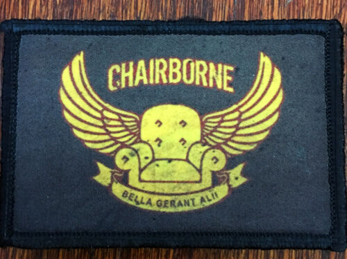 Chairborne Ranger Morale Patch Tactical Military Army Hook Flag Commando USAArmy - 48824