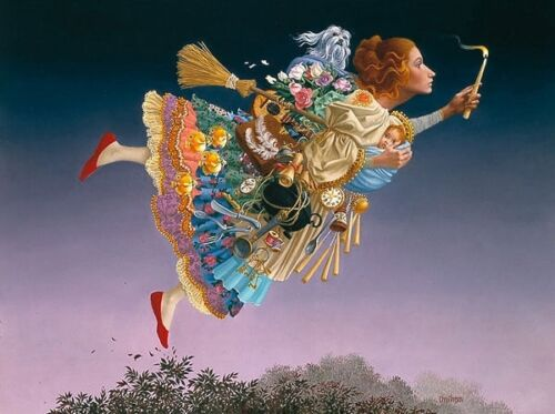 James Christensen The Responsible Woman ANNIVERSARY EDITION Giclee Canvas