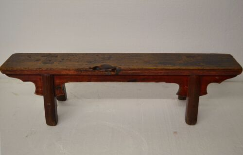 Collectible Chinese Antique Wooden Low Narrow Stool Table Display Stand JAN12-06