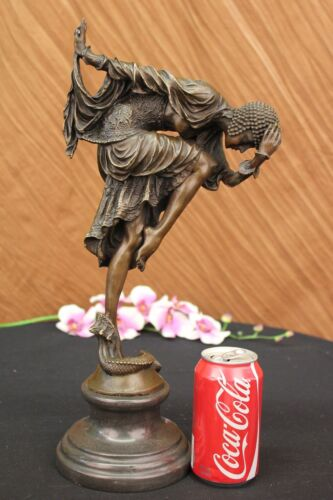 CHIPARUS DANCER W/ STRIKING POSE BRONZE SCULPTURE ART DECO NOUVEAU LOST WAX SALE