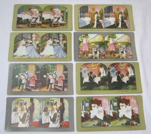 Antique Stereo View Card Lot Novelty Comedy Funny Photo Views   T*
