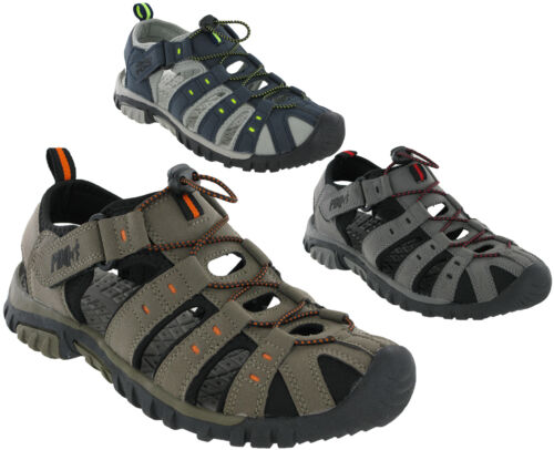 PDQ Sandals Closed Toe Toggle Strap Fastening Lightweight Mens Beach UK7-12