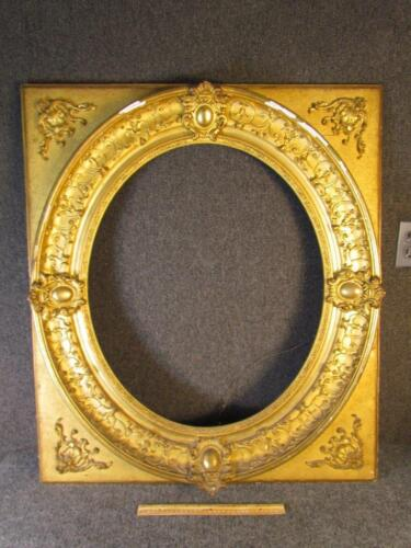 *FABULOUS* ANTIQUE EUROPEAN OVAL GILT PAINTING FRAME, FITS 21 X26 INCHES