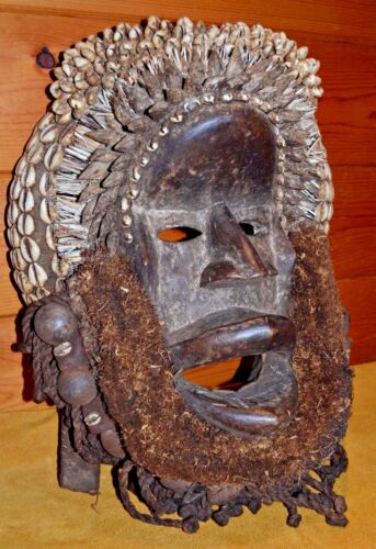 Antique African Dan Tribe Poro Society Ceremonial Mask From Ivory Coast, Africa