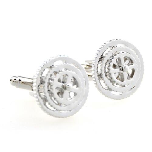 Bicycle Gears Bike Cycling Cufflinks Wedding Fancy Gift Box & Polishing Cloth
