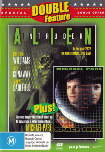ALIEN INTRUDER Billy Dee Williams / SPACE FURY - DVD - All Zone - New - PAL