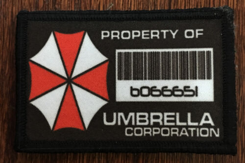 Resident Evil Property of Umbrella Corp Morale Patch Tactical Military Flag USAArmy - 48824