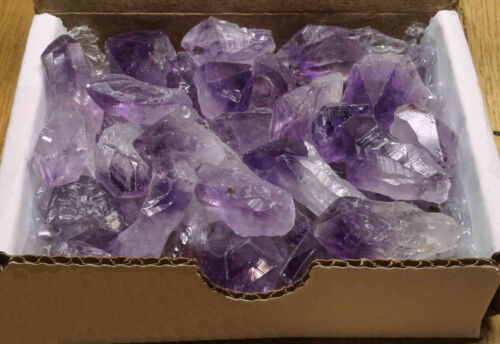Amethyst Points Collection 1/2 Lb Natural Dark Purple Crystals Brazil