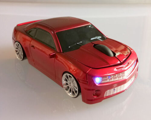 3D Chevrolet Camaro 2.4Ghz Wireless USB car mouse Computer Mice for PC/Laptop US