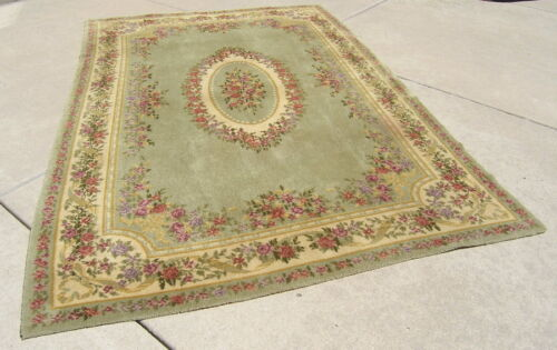 Antique Bigelow Oriental Rug Carpet Floral Bouquet Design , 78 by 116 inches Exc