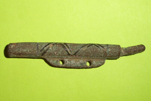 RARE Authentic MEDIEVAL PURSE BAR niello inlay old artifact antiquity antique