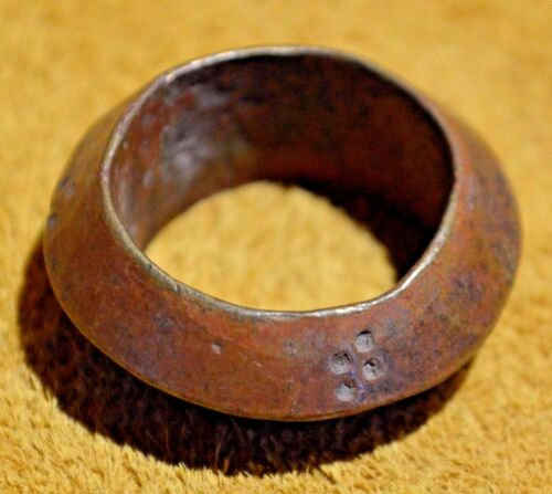 Antique Ethiopian Brass Metal Wedding Ring From Ethiopia Africa, Ring Size 7 1/2