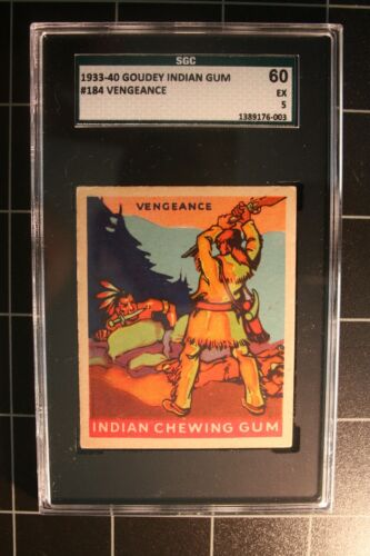 1933 Goudey Indian #184 Vengeance - Series of 312 - SGC-60