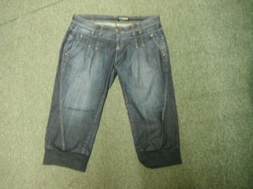 """Vingino Cropped Cuffed Jeans Size 31 Leg 19"""" Faded Dark Blue Ladies Jeans"""
