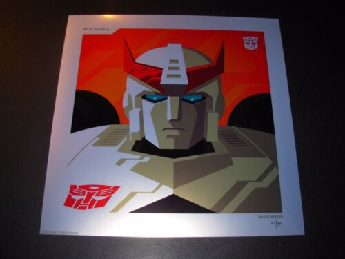 THE TRANSFORMERS Autobots PROWL Foil Variant poster art print Tom Whalen /50