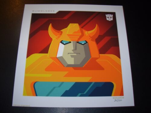 THE TRANSFORMERS Autobots BUMBLEBEE poster art print Tom Whalen n/100