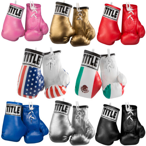 "Title Boxing 3.5"" Authentic Detailed Mini Lace Up GlovesGloves - Boxing - 30102"