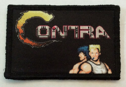 Contra Video Game Morale Patch Military Tactical Army Funny Flag USA Badge HookArmy - 48824