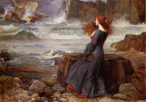 John William Waterhouse Miranda - the Tempest Giclee Canvas Print