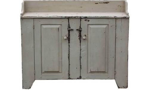 PRIMITIVE VANITY RUSTIC COUNTRY PAINTED DRY SINK FARMHOUSE FURNITURE CUPBOARD