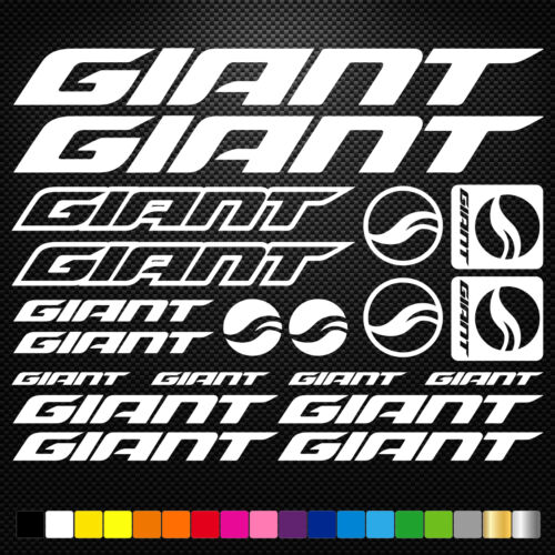 Giant 20 Stickers Autocollants Adhésifs - Vtt Velo Mountain Bike Dh Freeride