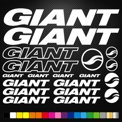 Giant 19 Stickers Autocollants Adhésifs - Vtt Velo Mountain Bike Dh Freeride