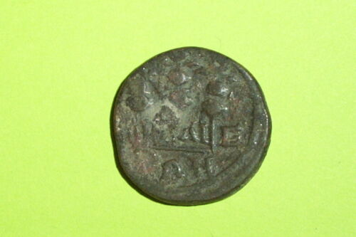 Ancient ROMAN COIN of SEVERUS ALEXANDER 222 AD legionary standards old G antique