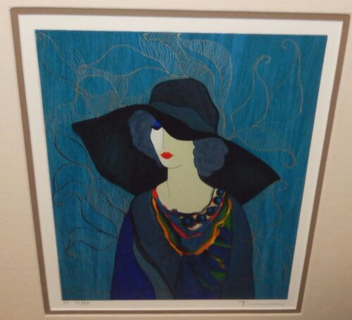 """ITZCHAK TARKAY """"SARAFINA"""" LIMITED EDITION HAND SIGNED COLOR LITHOGRAPH"""