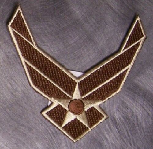 Embroidered Military Patch USAF Air Force Wings emblem modern logo NEW desertOther Militaria - 135