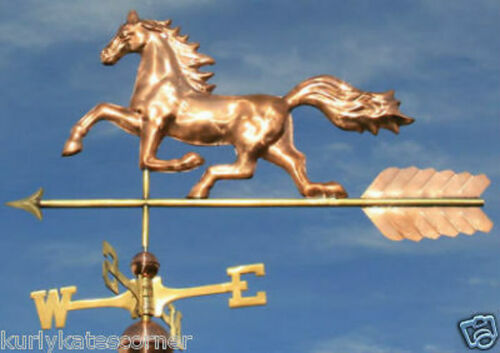 "COPPER ""HORSE"" WEATHERVANE W/DIRECTIONALS & ARROW 2001"