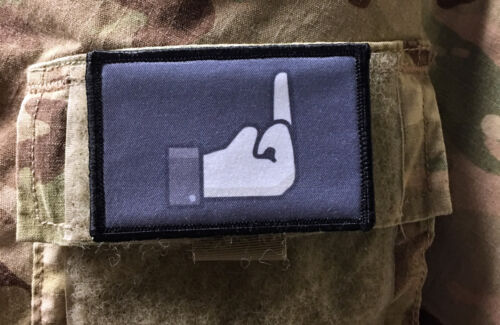 Dislike Middle Finger Morale Patch Tactical Military USA  Army  FunnyArmy - 48824