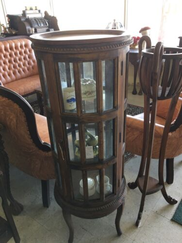 Victorian Display Cabinet With The Serving Top