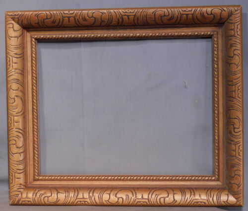 Vintage machine carved Gilt Wood baroque Picture FRame 1960's 11x14 Mid Century