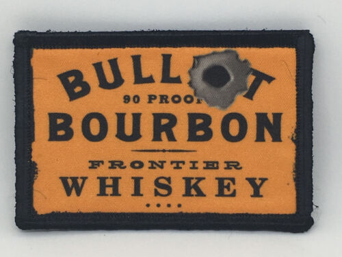 Bullet Bourbon Whiskey Morale Patch Military Tactical Army Flag USA Hook BadgeArmy - 48824