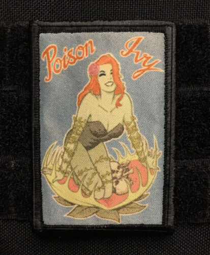Poison Ivy MORALE Patch  Tactical ARMY Hook Military USA Badge FlagArmy - 48824