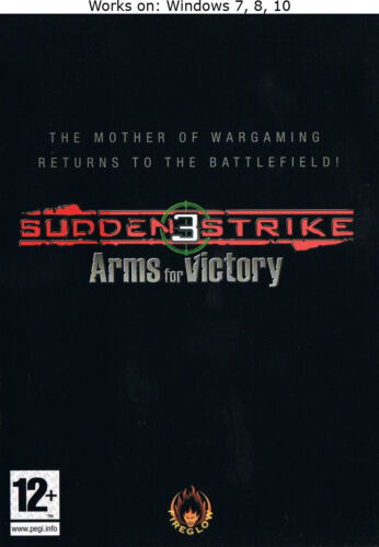 Sudden Strike 3 Arms for Victory + The Last Stand PC Game Windows 7 8 10