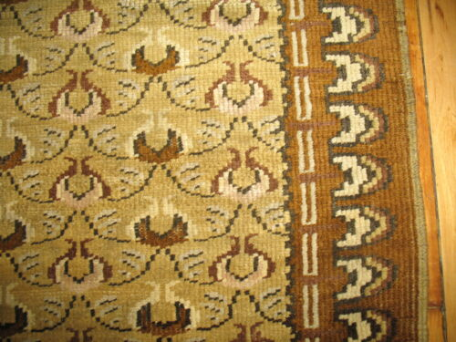 Antique Turkish Sivas Herekeh Mustard Rug Size 3'5''x6'7''